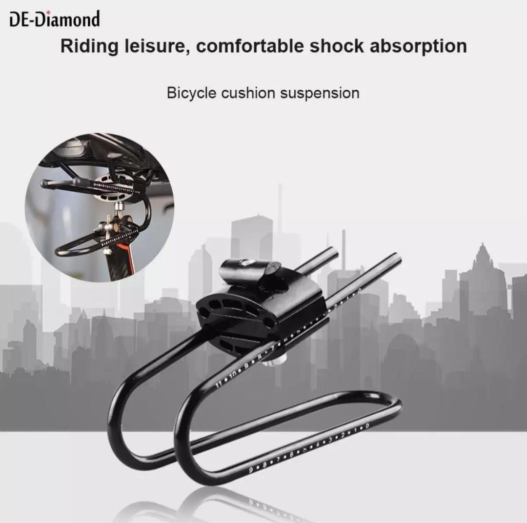 Saddle Suspension Device Shock Absorber Bike Alloy Spring Steel Adjustable