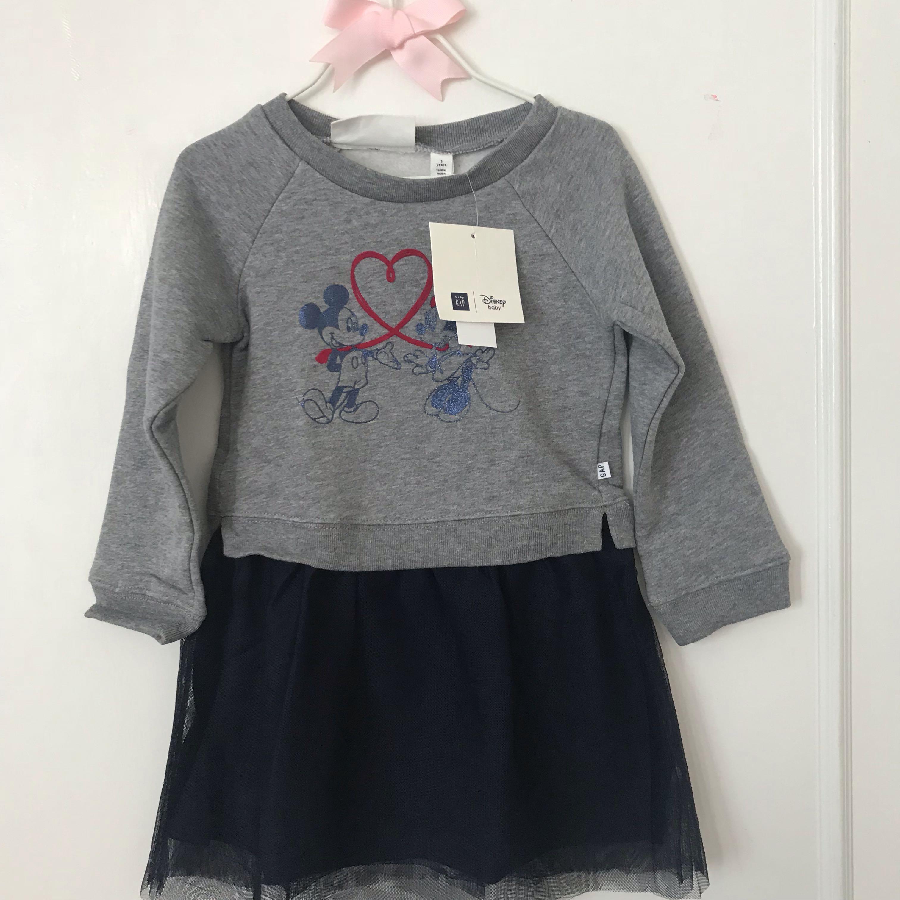 62c39a4ba BN GAP Baby X Disney Minnie Mouse Sweatshirt Tutu Dress 3 years old ...