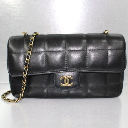 e1664d552cbc Chanel Black Lambskin Sling Bag (GHW), Luxury, Bags   Wallets ...
