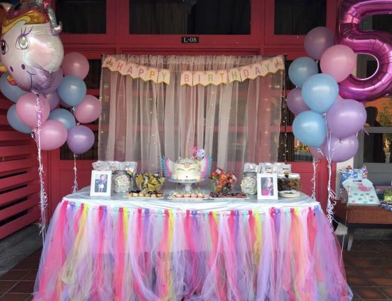 Dessert Table Items For Rental Unicorn Theme Birthday Parties