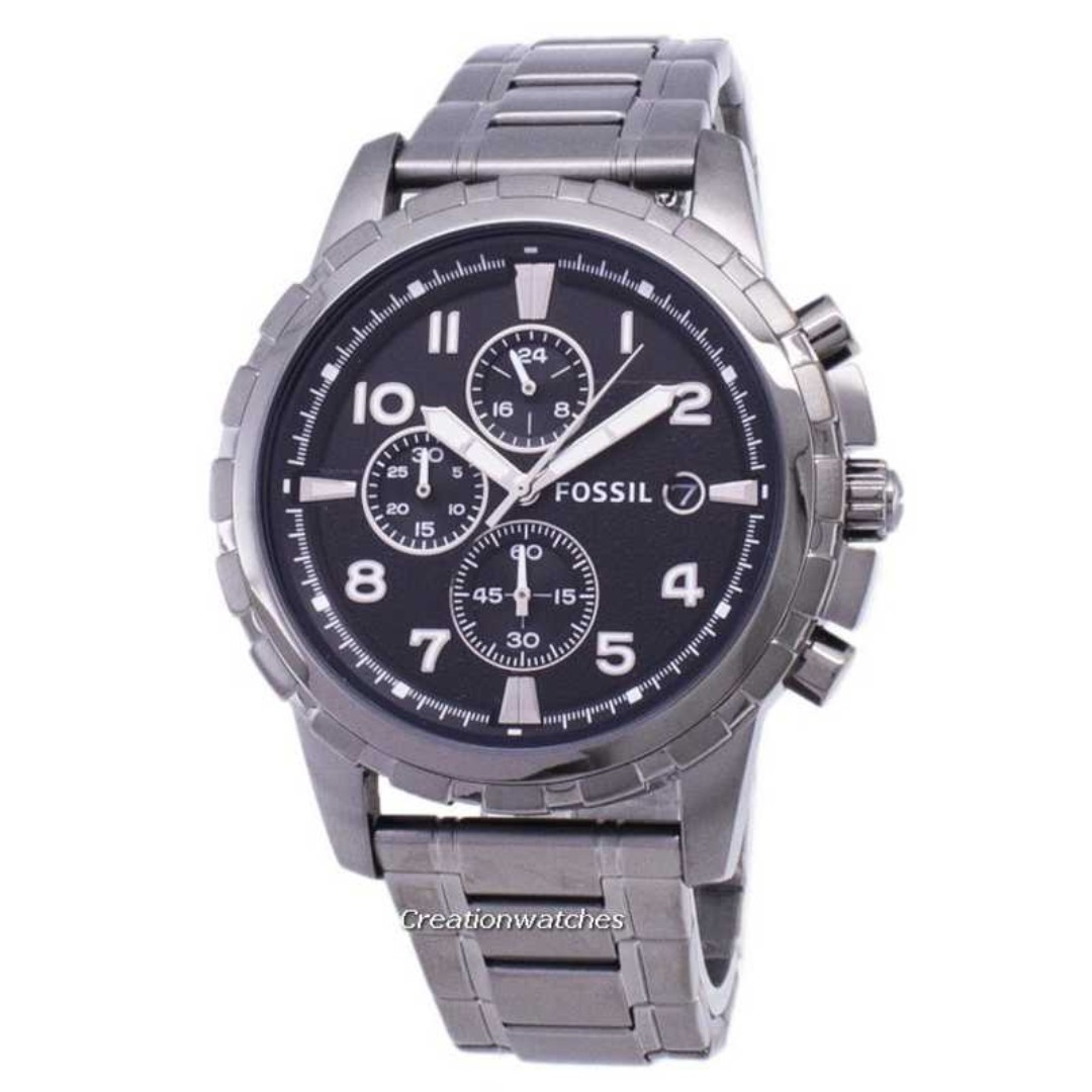 932103b1cea Fossil Dean Chronograph Smoke Grey Ion Plated FS4721 Men s Watch ...