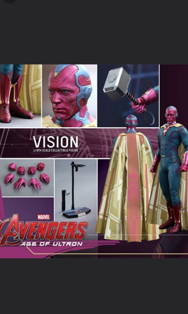 Hot Toys Age Of Ultron Vision Avengers NOT Scarlet Witch