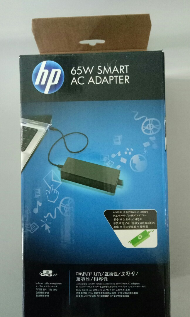 HP 65W Smart AC Adapter Electronics Computer Parts Accessories
