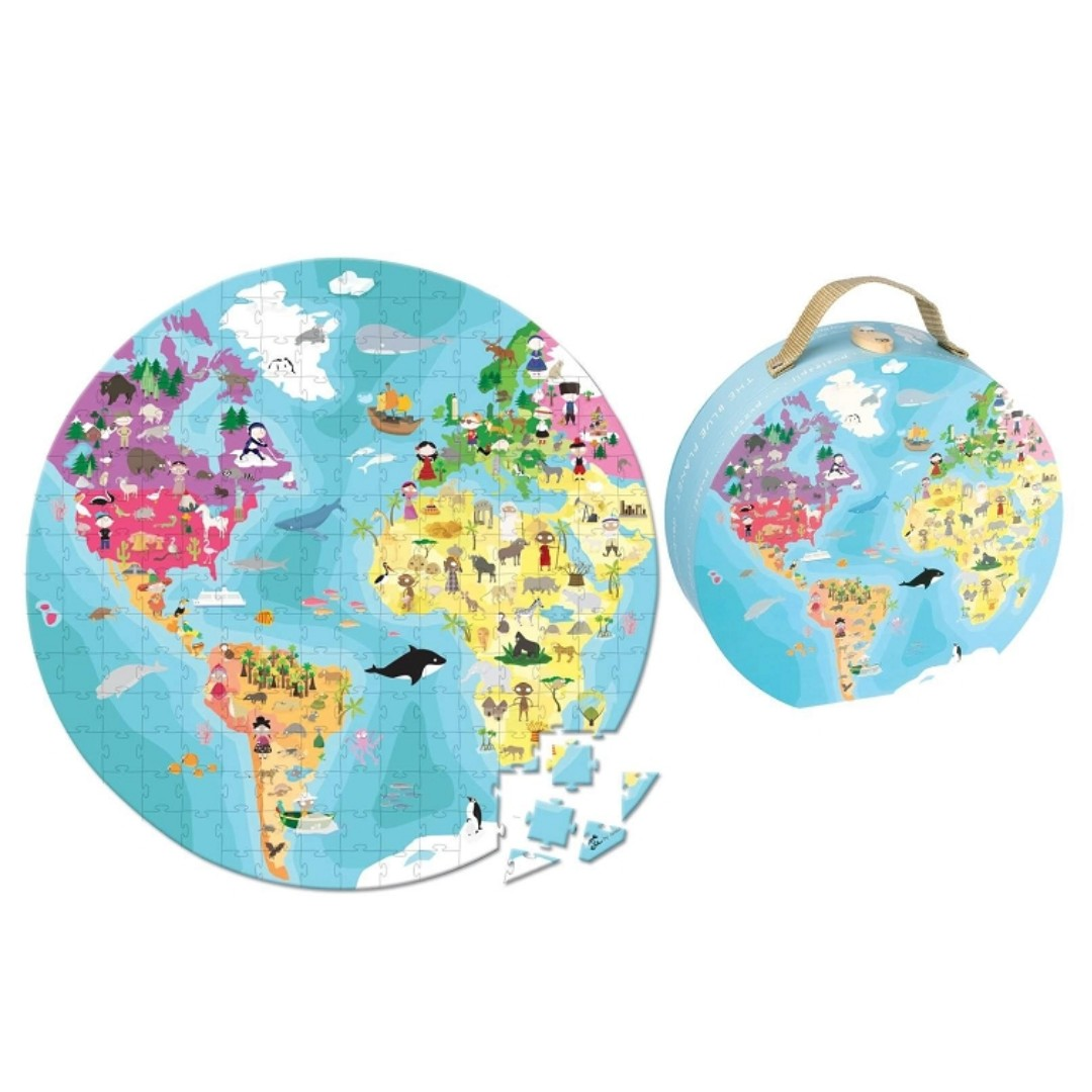 Janod World Map.Janod France Gorgeous 2 Sided World Map Puzzle Carry Case Toys