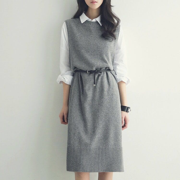 knit shirt dress