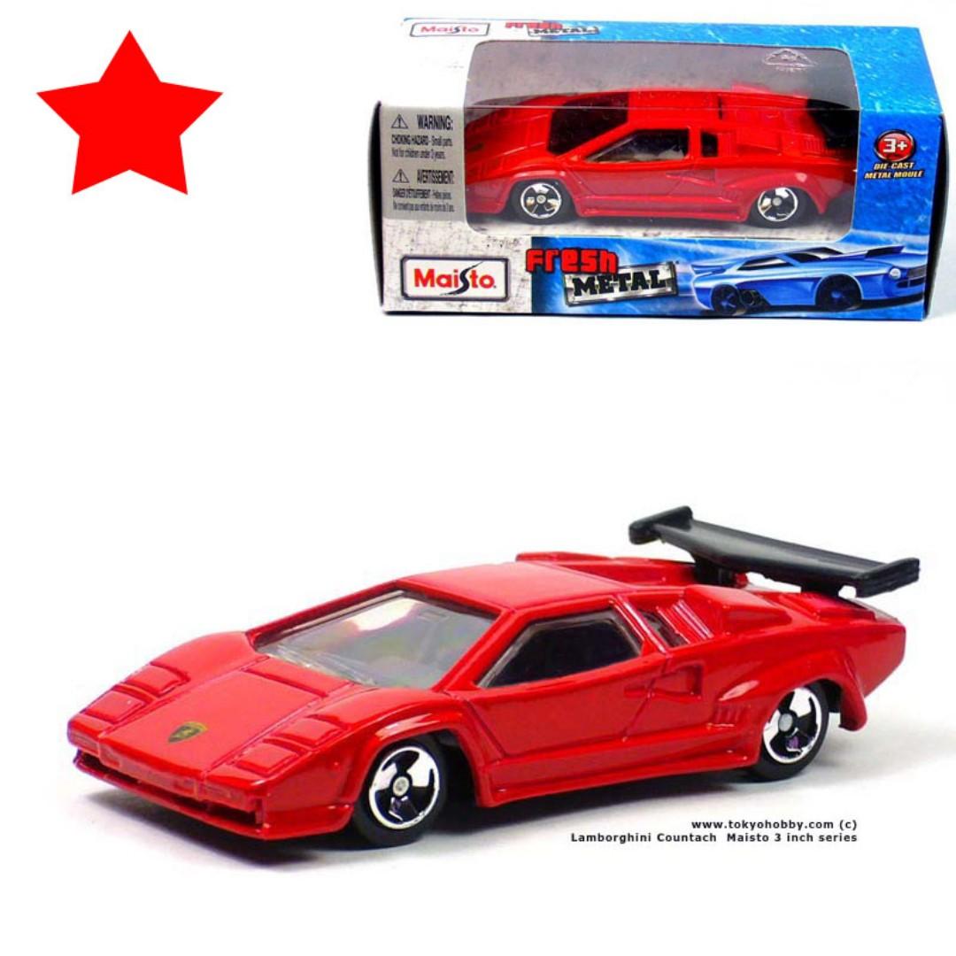 Lamborghini Countach Maisto 3 Inch Diecast 1 64 Matchbox Hotwheel