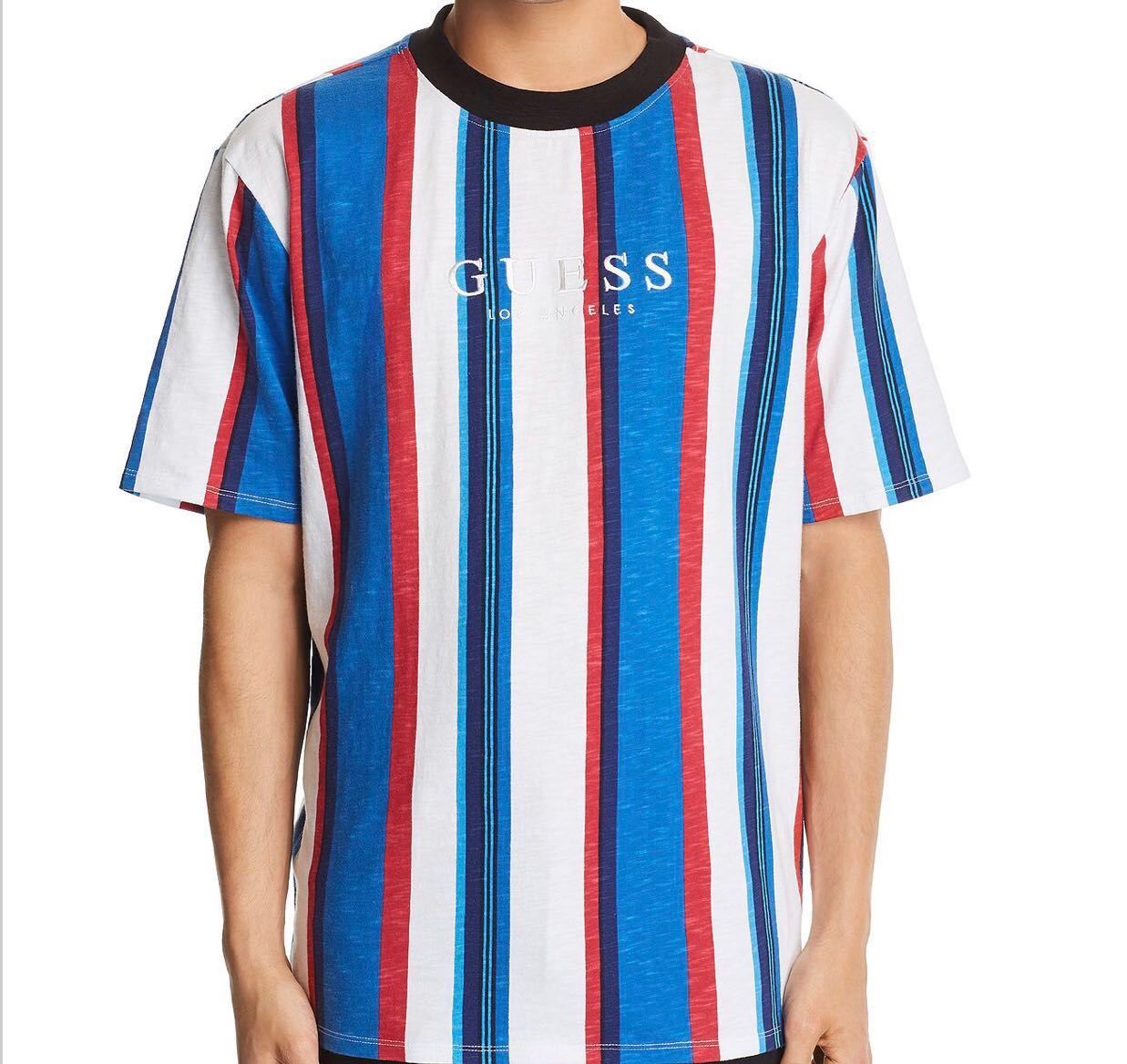 9ba0fa9eb9 LAST DAY* Guess Sayer Striped Tee, Men's Fashion, Clothes, Tops on ...
