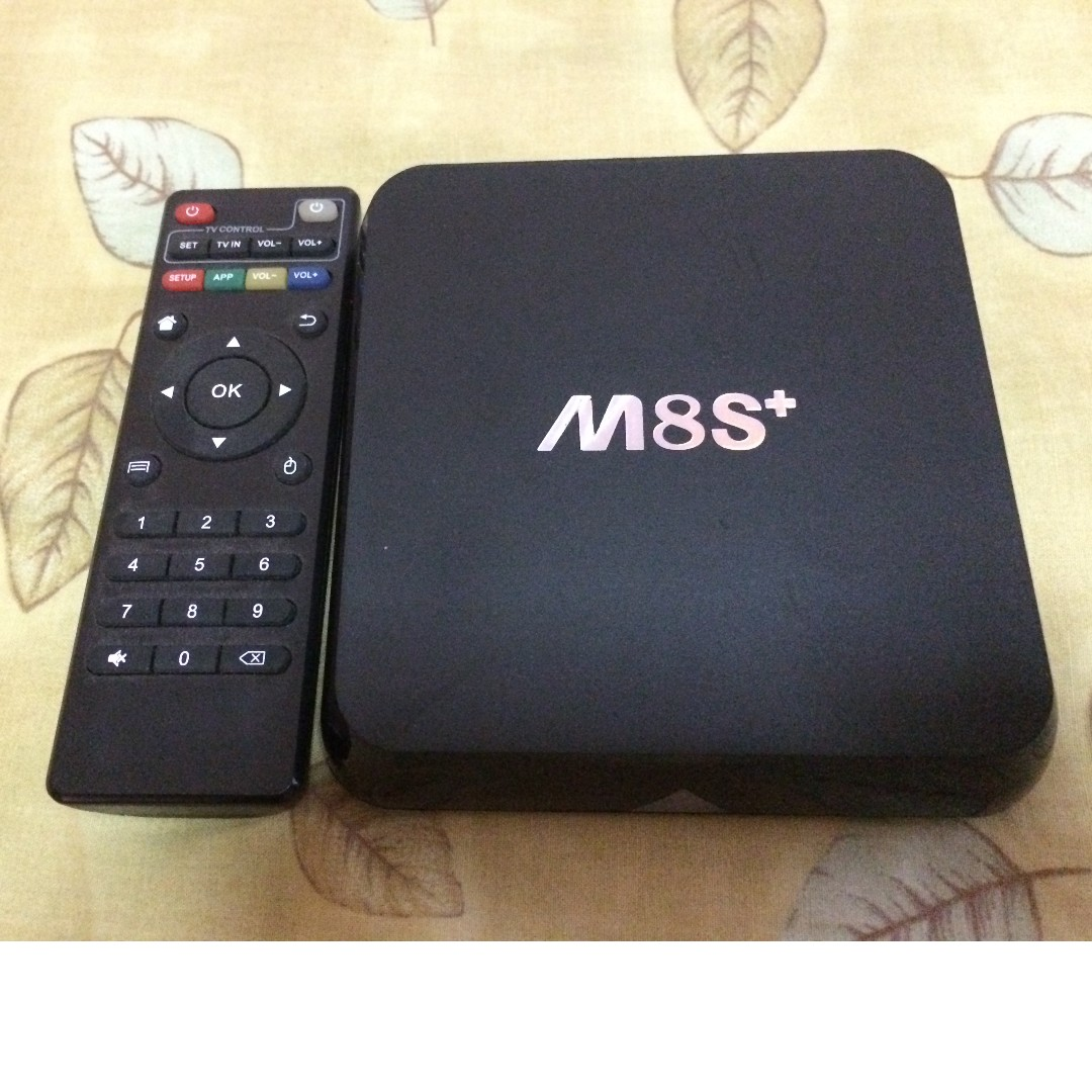 M8s+ Android TV box with wireless keyboard on Carousell