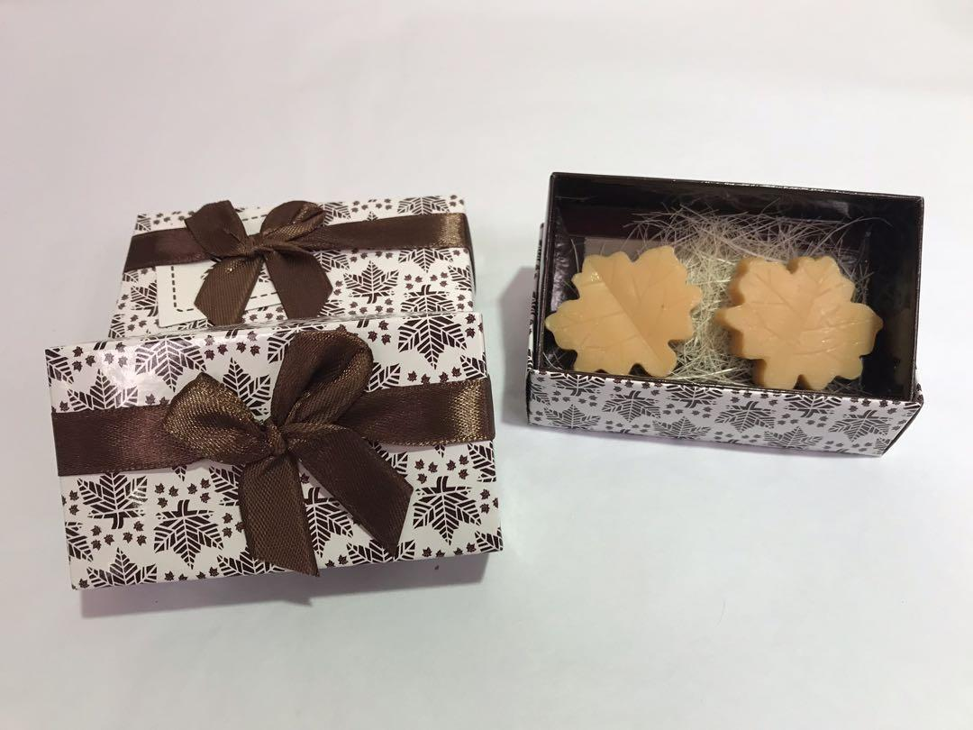 Maple leaves scented soap (wedding favours/Berkat/Doorgifts)