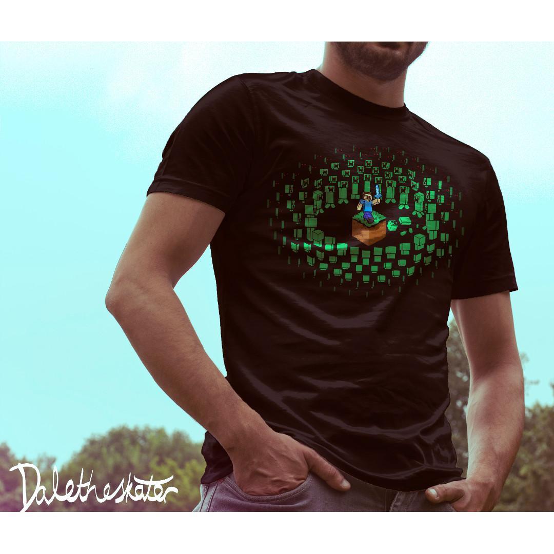Minecraft Unisex/Mens T-Shirt M Black - Gaming/Pop Culture