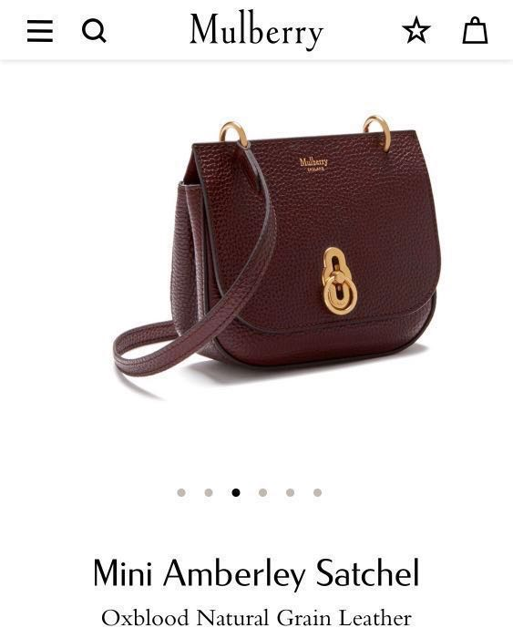 Mulberry Mini Amberley Satchel Crossbody Bag in oxblood natural ... a849b21bc247f