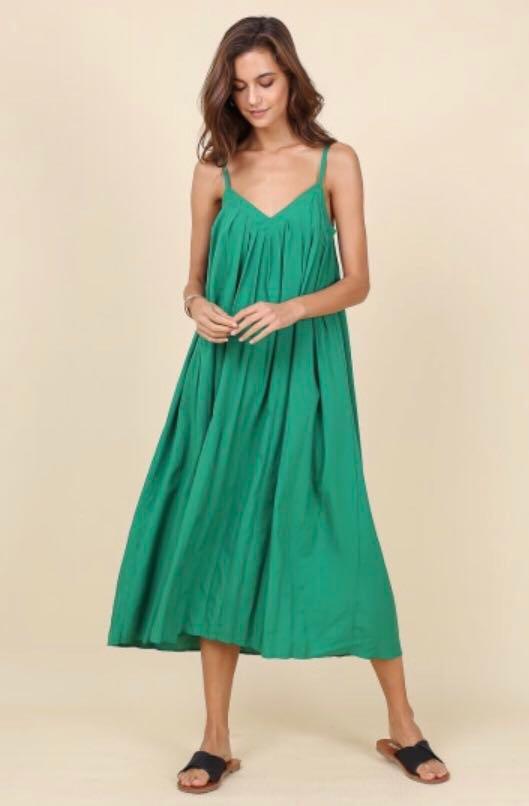 4fe8b42234 Navya maxi sundress in green