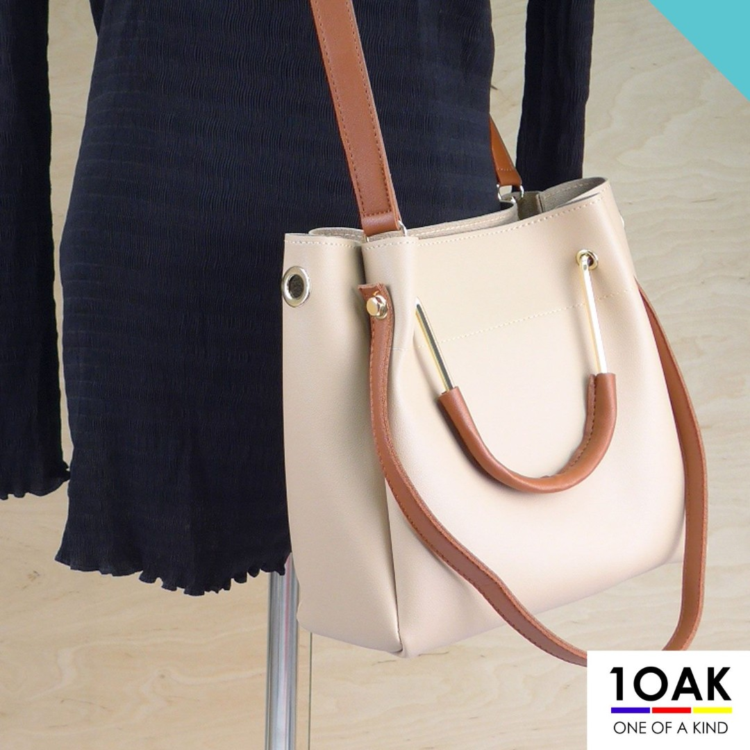 a4e30a3b06db NEW 3-Way Faux Leather Bucket Shoulder Top Handle Crossbody Bag with ...
