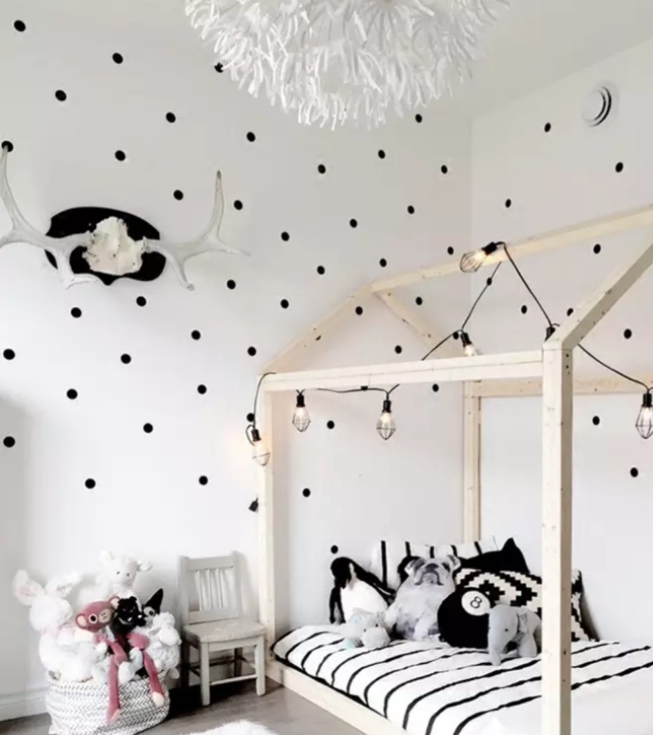 Nordic Polka Dots Wall Decal Sticker Children Baby Room Furniture