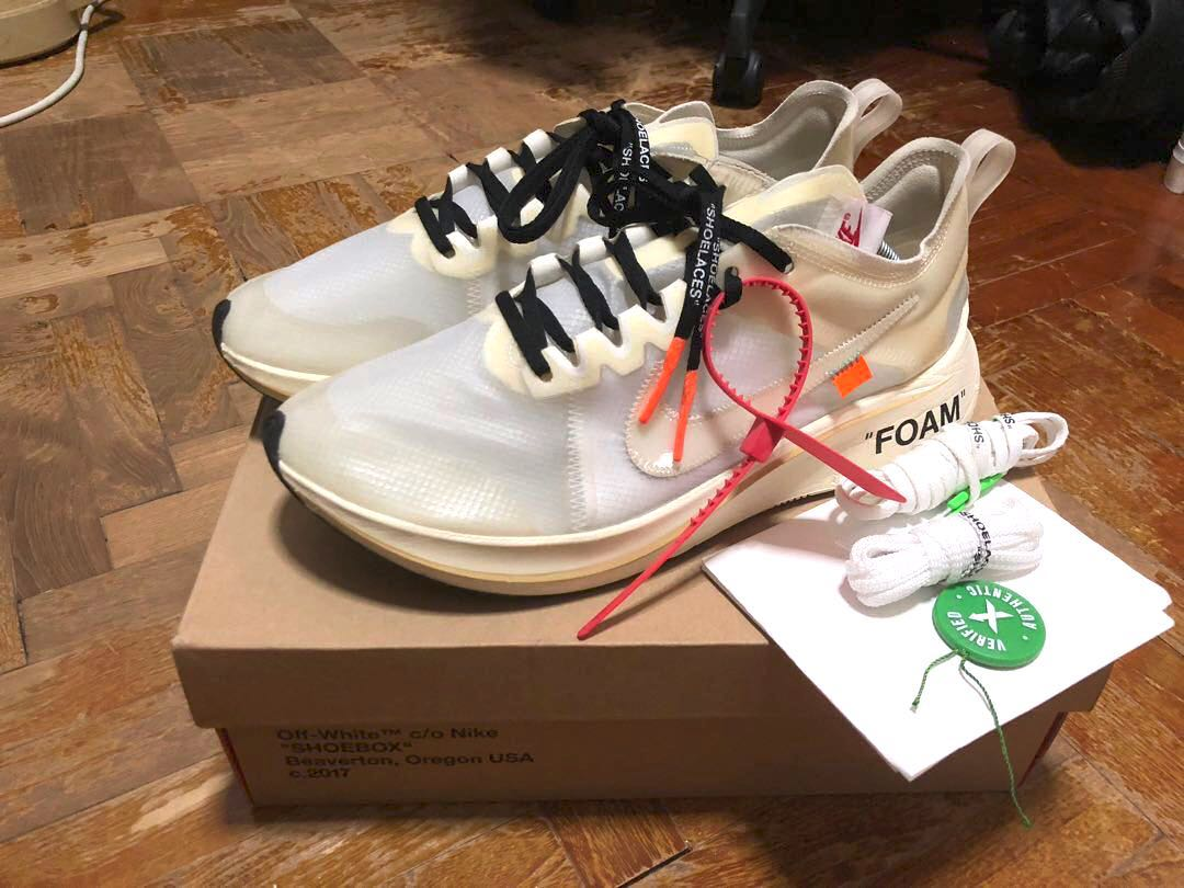 44e454b1 Off White The 10: Nike Zoom Fly OG US 12, Men's Fashion, Footwear, Sneakers  on Carousell