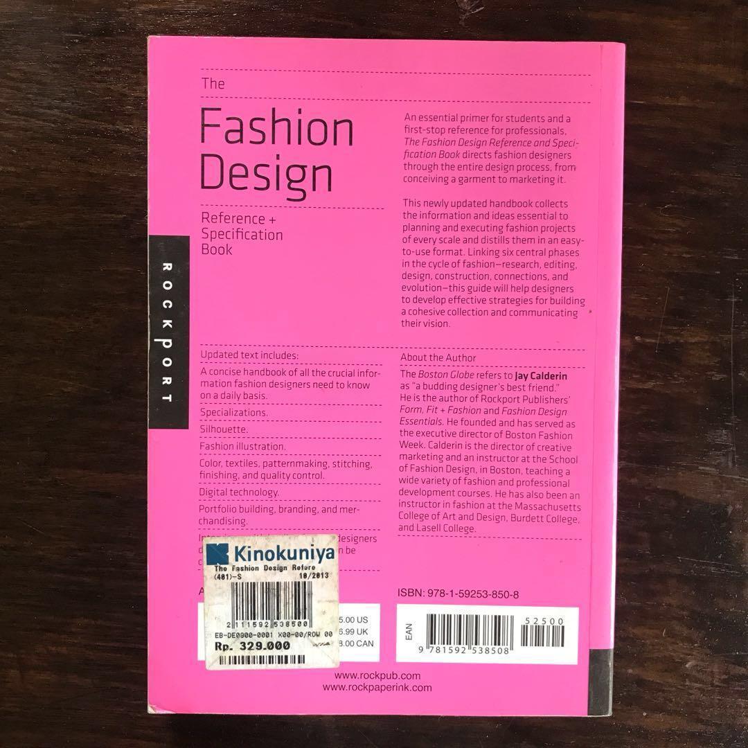 The Fashion Design Reference Specification Book Buku Alat Tulis Buku Di Carousell