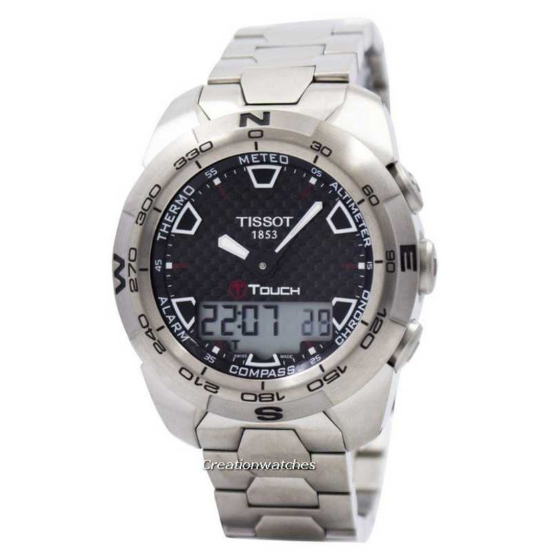 358cd6383e4 Tissot T-Touch Expert Titanium T013.420.44.201.00 T0134204420100 Compass  Watch