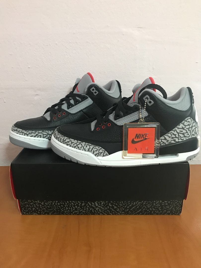 850bde80af2a US 9.5 Air Jordan Black Cement 3