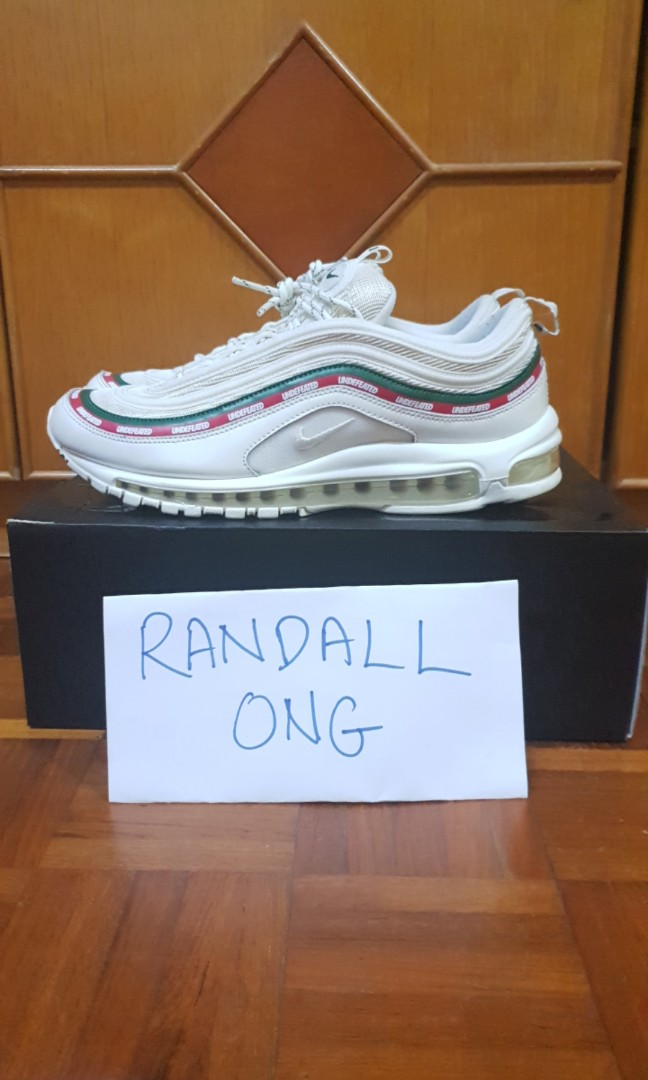 detailed look 400f3 c448b WTS/WTT Nike x undefeated airmax 97 white