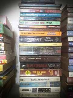 Assorted Novels (Fiction, Historical, Horror)