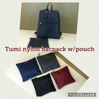 TUMI Nylon Backpack (with Pouch)