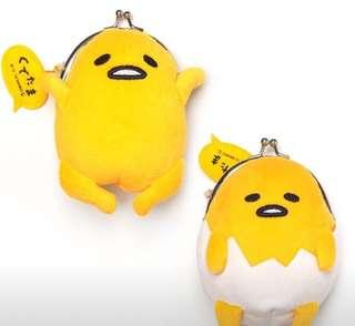 Gudetama Egg Character Click Clack Coin Pouch