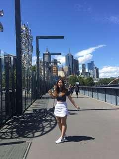 Glamorous white skirt