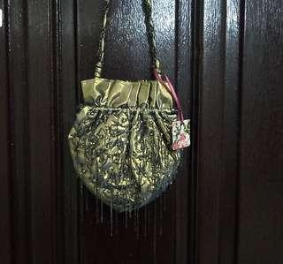 Gold beaded coin purse