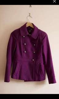H&M size 4 magenta pea coat