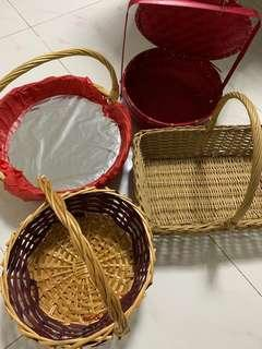 Rattan basket all for $20