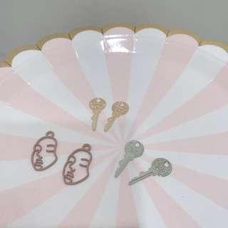 🚚 🔹客製耳環❤️鑰匙圈 鑰匙耳環