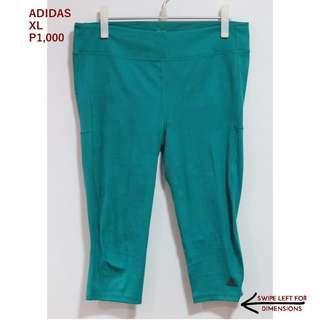 Adidas Pine Green 3/4 Leggings
