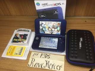 New Nintendo 3DS XL US Metallica Blue