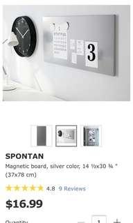 Ikea Magnetic Board - White