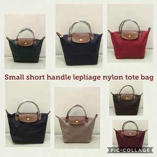 Small Short Handle Longchamp Le Pliage