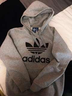 Adidas grey-black trefoil hoodie