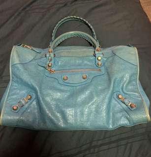 Authentic Balenciaga work SHW calfskin leather bag
