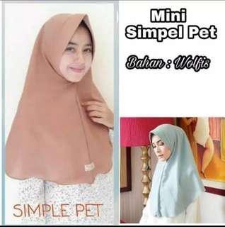 Jilbab Mini simple pett