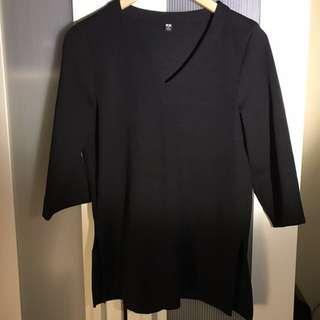 Uniqlo Black Blouse