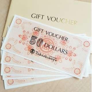 $1.1K Takashimaya Vouchers