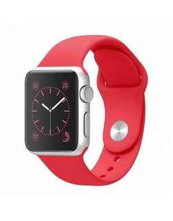Red Silicon Apple Watch Band
