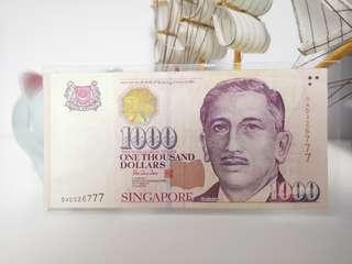 777 Lucky Note $1000