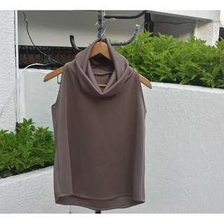 Sleeveless Cowl neck Top (Harlan Holden-inspired in Taupe)