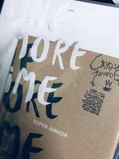 Super Junior The First Mini Album One More Time Normal Edition with poster, photocard and mini file