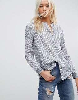Maison Scotch Printed Button Up Shirt 100% Cotton