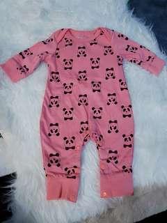 Pink Mini Pandas Onesie/Romper