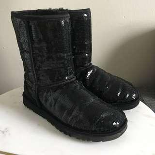 UGG Australia Sequined Shearling Boots Size 39