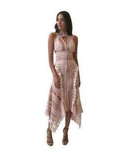 Thurley Moon Over Water Dress in Dusty Pink (size 6)