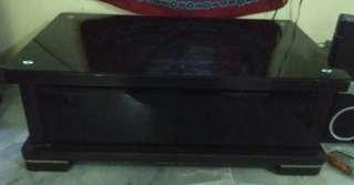glass top 4' tv cabinet