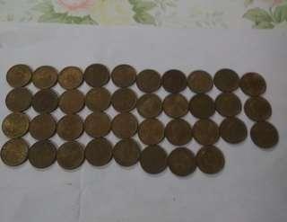 香港硬幣五仙女皇頭38 枚(不散賣)